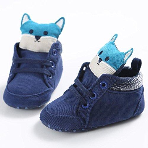 18 12 Kleinkind alter Cut Blau Sohle Hight Sneaker Jungen Blau ~ Baby Rutschfest Fuchs Hunpta Weiche Mädchen Schuhe Monate PZOXv7