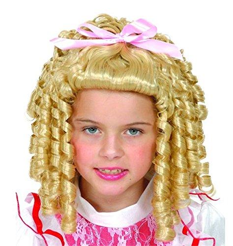 Unbekannt P 'tit Clown-66033-Perücke Kinder Prinzessin Blonde mit Schleife rosa-Größe M (Rosa Perücke Mit Schleife)