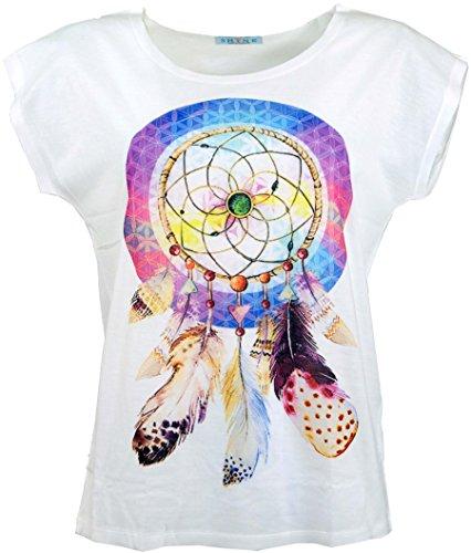933cfec47b50 Guru-Shop Psytrance T-Shirt, Yoga T-Shirt, Retro T-Shirt, Damen, Universum,  Synthetisch, Size 38, Tops, T-Shirts, Shirts Alternative Bekleidung