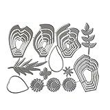 healifty Schablone Metall Blumen Blätter für Card Album Kunst Handwerk Scrapbooking DIY