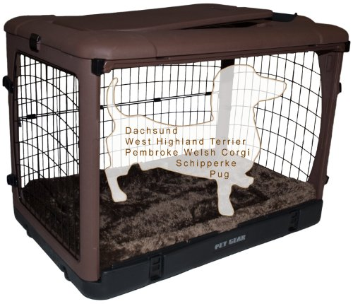 Artikelbild: Pet Gear Hundekäfig The Other Door, Stahl, mit Unterlage, Klein, Schokoladenbraun