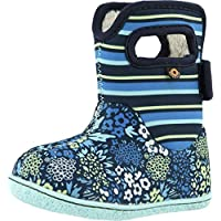 BOGS Kids Baby NW Garden Teal Multi Blue Stripe Wellington Boots Size 7