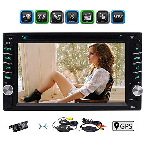 Dvd-spieler Doppel-din-gps (Kostenloses W-R¨¹ckseiten-Kamera inklusive! 6,2-Zoll-Beleuchtungslicht-Knopf kapazitive Screen-Doppel-DIN-Autoradio-DVD-CD-Spieler GPS-Navigations-Auto-Monitor-Unterst¨¹tzung Bluetooth Lenkrad-Steuerung FM / AM RDS Radio-USB / TF AUX Subwoofer 1080P Video)