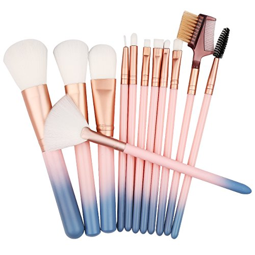 Makeup Brush Set - 12 Pcs Face Makeup Brushes Makeup Brush Set