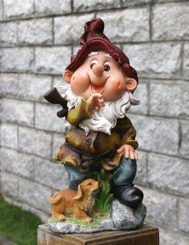 Design 3 Zwerg 33 cm 13002-3 Hoch Deko Garten Gartenzwerg Figuren Dekoration verschiedene Design | Garten > Dekoration > Dekofiguren | GMMH