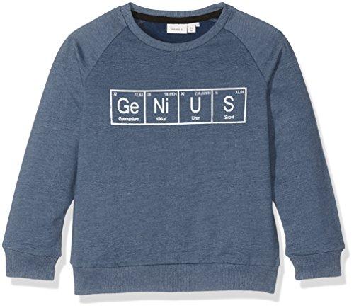 NAME IT Mädchen NITVALEXANDER LS BRU SWE Mini Sweatshirt, Blau (Insignia Blue), 110 - Mini-jumper