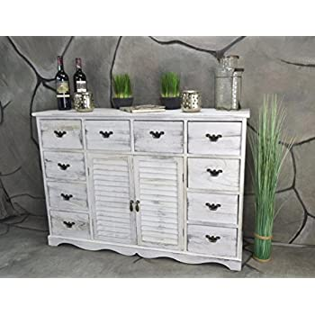 Kommode weiß vintage  Livitat® Kommode Sideboard Anrichte Landhaus Shabby Chic Vintage ...