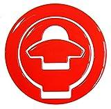 Tankdeckel-Pad 3D 610022 Neon Rot - universeller Tank-Schutz passend für Ducati Tanks
