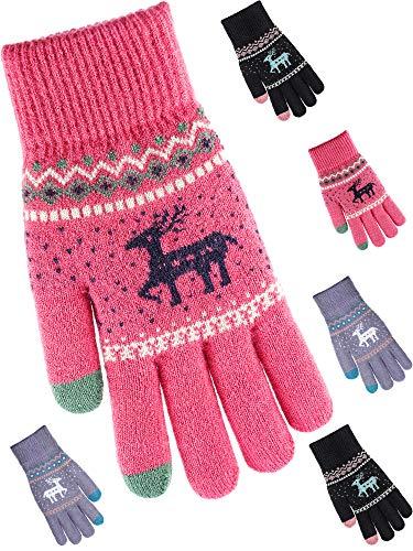 Tatuo 3 Paar Touchscreen Handschuhe Mechaniker Handschuhe Winterwarme Handschuhe (Stil 3) (Mechaniker Kostüm Männer)