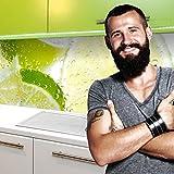 StickerProfis Küchenrückwand Selbstklebend Premium Grüne LIMETTEN 60 x 400cm DIY - Do It Yourself