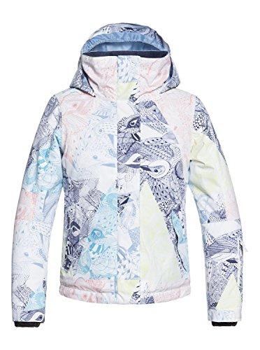 Roxy Mädchen Jetty Snow Jacket, Bright White-alska Bird, 10/M