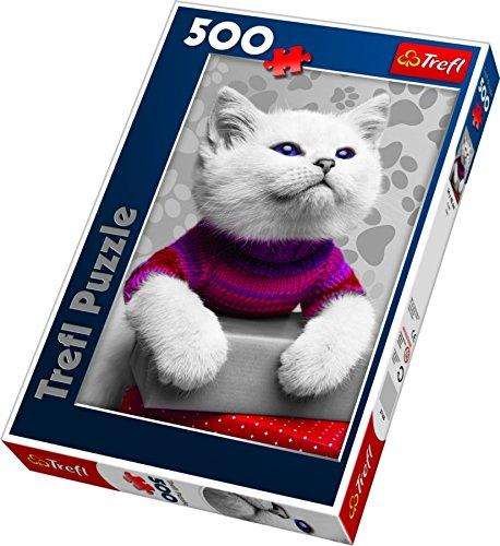 Trefl 37168 - Kätzchen im Pullover - Puzzle 500 Teile