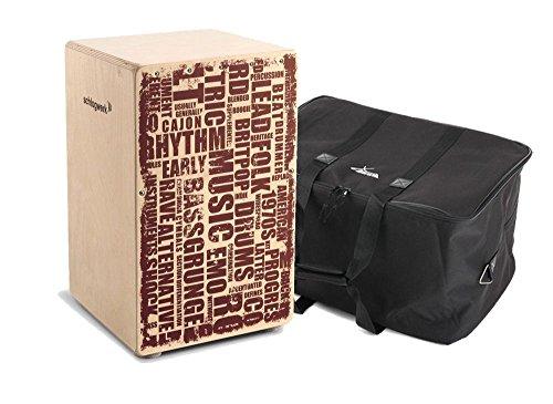 "Schlagwerk CP 130 Cajon X-One""Styles"" SET inkl. Tasche (Trommelkiste, Percussion, Kistentrommel, Material: Birke, inkl. Gigbag)"