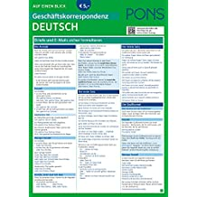 PONS Geschäftskorrespondenz aeB Deutsch (PONS Auf einen Blick)
