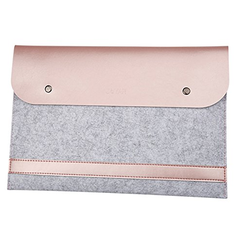 Laptop-Tasche Filz Mikrofaser LederHülle Ultrabook Laptop Tasche Filz Sleeve Speziell für Macbook 11.6-15.4 Inches Roségold (Macbook Pro Retina Laptop 17)