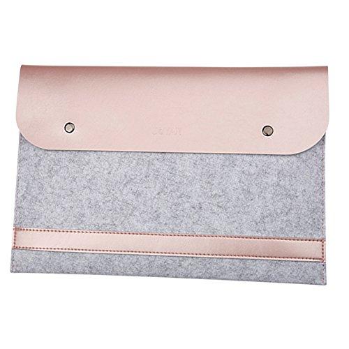 Laptop-Tasche Filz Mikrofaser LederHülle Ultrabook Laptop Tasche Filz Sleeve Speziell für Macbook 11.6-15.4 Inches Roségold (Hp Stream 13-zoll-laptop-tasche)