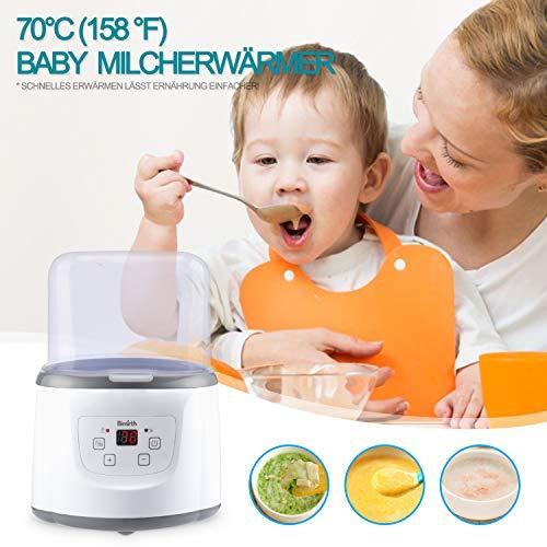 Baby Bottle Warmer Flaschenwärmer Flaschen Sterilisator 4 -in -1 Intelligenter Flaschenwärmer und Baby-Lebensmittel-Heizungsgerät für Muttermilch oder Babymilchpulver mit LCD-Echtzeit Anzeige Schnelle Erwärmung und genaue Temperaturkontrolle - 7