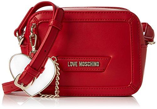 Love Moschino Damen Borsa Calf Pu Rosso Baguette, rot (Red), 8 x 13 x 18 cm
