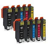 10 Druckerpatronen kompatibel zu Epson 33-XL passend für Epson Expression Premium XP-530 XP-540 XP-630 XP-635 XP-640 XP-645 XP-830 XP-900