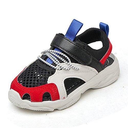 Jungen Mädchen Sport Sandalen Sommer im Freien Breathable Athletic Beach Schuhe (Kleinkind/Kleines Kind) (Rot-glitzernden Kinder Schuhe)