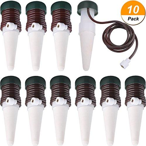 Hestya Bewässerungsstangen Automatisches Bewässerungssystem, 10 Packung Pflanze Selbst Tropfbewässerung Langsame Freisetzung für Innen oder Draussen Zimmerpflanzen