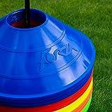 Markierungsteller, 50 Stück, mit Ständer, beste Qualität [Net World Sports] (Markierungsteller mehrfarbig) - 2