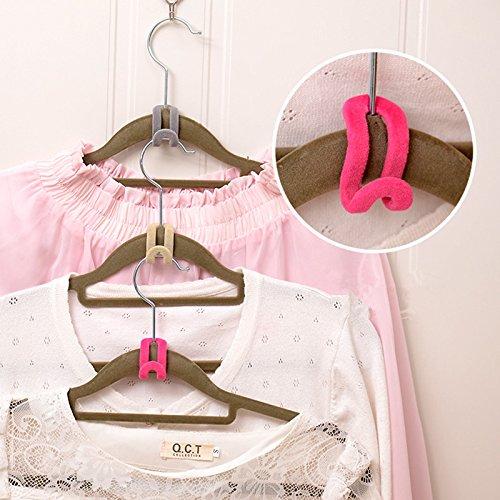tive Rutsch-Mini Beflockung Kleidung Rack Haken Kleiderbügel einfach Haken et Organizer zufällige Farbe ^ (Monogramm Kinder Kleidung)