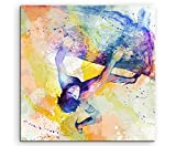 Klettern III 60x60cm Wandbild SPORTBILD Aquarell Art tolle Farben von Paul Sinus