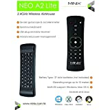 MINIX Neo U1 Lollipop de Android 5,1 Smart TV Box Amlogic S905 de Cuatro Núcleos HDMI2,0 4K 2 GB / 16 GB de 2,4 / 5 GHz 2x2 MIMO WiFi Gigabit Ethernet Bluetooth 4,1 / A2 Minix Lite 2,4 GHz de doble cara Remote