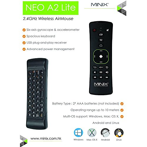 MINIX Neo U1 Android Lollipop 5.1.1 Smart TV Box Amlogic S905 Quad-core HDMI2.0 4K 2GB/16GB 2.4/5GHz 2×2 MIMO WiFi Gigabit Ethernet Bluetooth 4.1 / Minix A2 Lite 2.4GHz Double-sided Remote