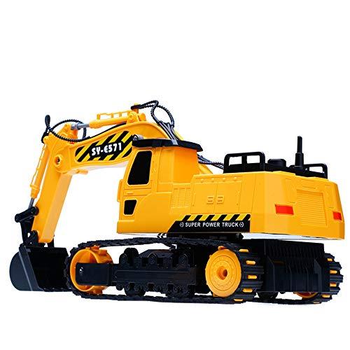 RC Auto kaufen Baufahrzeug Bild 3: HKFV RC Bulldozer, Model Free Wheeler Die Cast BAU Spielzeug RC Car 1:24 Scale Fernbagger-BAU-LKW-Spielzeug*
