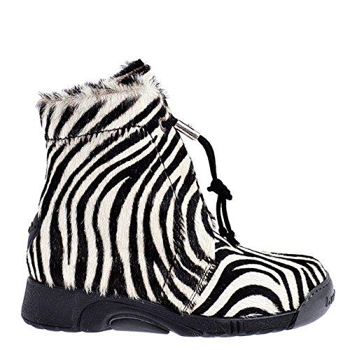 Bumper Boots Pony Zebra Bianco Short 02