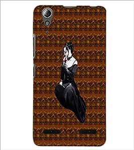 PrintDhaba Black Angel D-5643 Back Case Cover for LENOVO A6000 (Multi-Coloured)