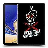 Head Case Designs Offizielle 5 Seconds of Summer Grunge X-Schädel Ruckseite Hülle für Samsung Galaxy Tab S4 10.5 (2018)