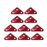 10 Stk.Dreieck Zeltleinenspanner Dreilochspanner Zeltzubehör Läufe (Rot, M)