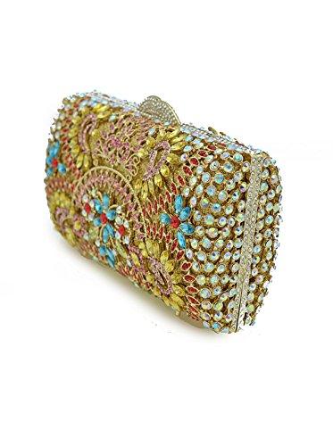 Borsa Da Sera Di Diamante Della Moda Di Lusso Del Sacchetto Di Diamante Della Sposa Ovale Gold