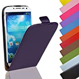 EximMobile - Flip Case Handytasche für HTC One A9 in Lila | Kunstledertasche HTC One A9 Handyhülle | Schutzhülle aus Kunstleder | Cover Tasche | Etui Hülle in Kunstleder
