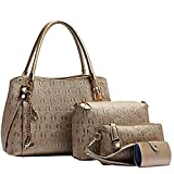 #5: LACIRA Women's Shoulder Bag, Satchel, Card holder and handbag( Gold,BA003GOL)