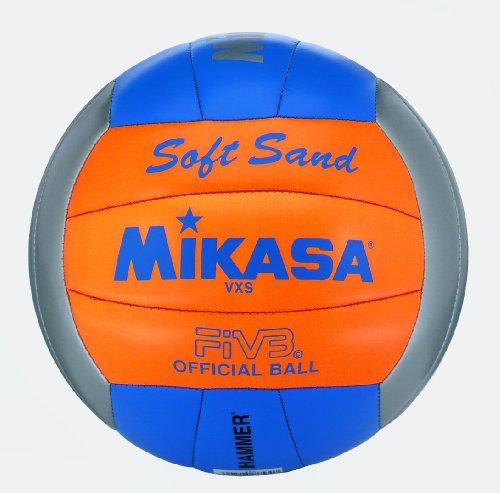 Mikasa Beach Volleyball Ball Ball Beach Soft, Grau/Orange/Bla, 5, 4002458006005