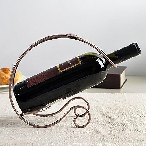 FUCHEN European Salon Moderne, Créative, Simple Plateau De Vin Rouge, En Fer Forgé En Acier Inoxydable Support De Vin, Casier À Vin, Bar À Champagne,Décoration