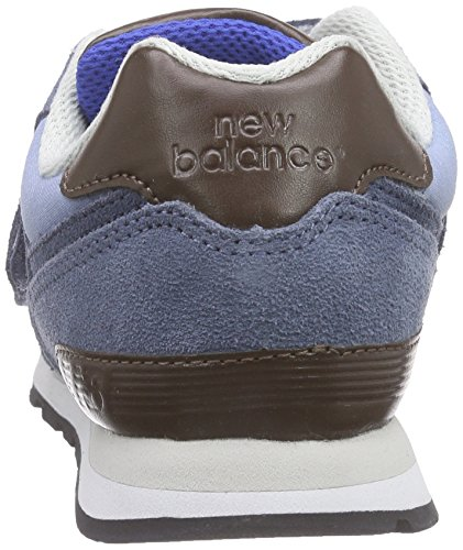 New Balance K_574V1, Baskets Basses Mixte Enfant Bleu (Blue/White/Brown)