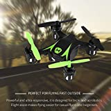 Lorenlli 2.4 Ghz 4CH RC Mini Drone Control remoto Helicóptero Trucos con un solo toque Quadcopter con batería Auto Hover Vuelo Ayuda Drone