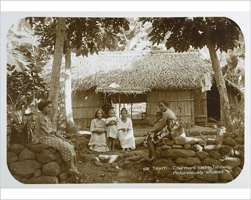 photographic-print-of-tahitian-villagers
