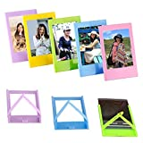 Neewer 10-in-1 Accessories Kit For Fujifilm Instax Mini 8/8s/9 Include Camera Case/Album/Selfie Lens/4Colored Filters/5Film Table Frames/20Wall Hanging Frame/40Border Stickers/2Corner Stickers/Pen