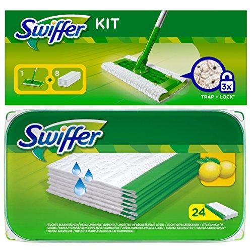 1x-swiffer-starter-set-bodenstab-mit-8-trocken-tucher-1x-24-er-swiffer-wet-feuchte-bodentucher