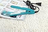 MuSheng(TM) Mini voyage femme en céramique portable en céramique cheveux lisseur (Bleu)
