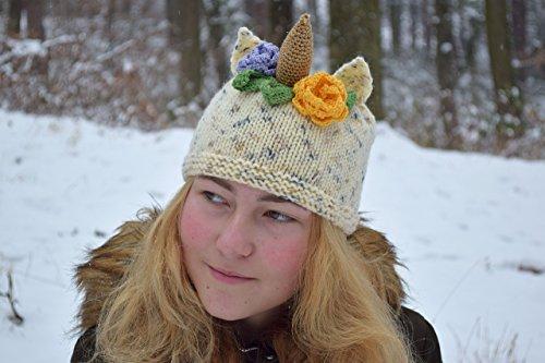 Einhorn baby Hut Strick Mütze für Mädchen -