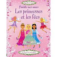 J'habille mes amies - Les princesses et les fées - Autocollants Usborne
