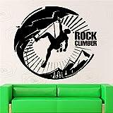 l'homme qui marche avec rock cite silhuettes vignette spécial mur autocollants 45x45cm maison salon chic décor moderne