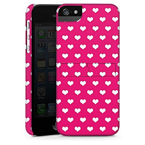 Apple iPhone 6 Housse Étui Silicone Coque Protection Polka c½ur Rose vif Blanc CasStandup blanc